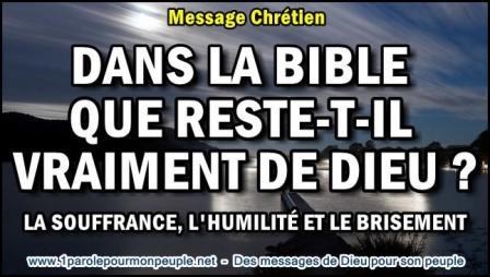 2015 0816 dans la bible que reste t il vraiment de dieu