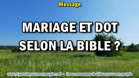 2018 0629 mariage et dot selon la bible minia1