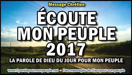 Ecoute mon peuple 2017 la parole de dieu du jour pour mon peuple minia1 copie450