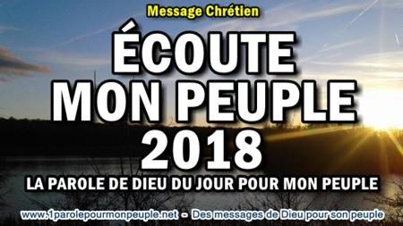 Ecoute mon peuple 2018 la parole de dieu du jour pour mon peuple minia1
