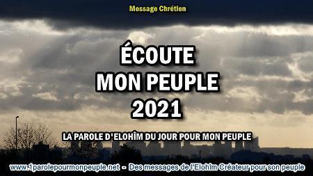 Ecoute mon peuple 2021 la parole d elohim du jour pour mon peuple minia1 450