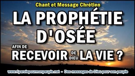La prophetie d osee afin de recevoir de dieu la vie miniature1