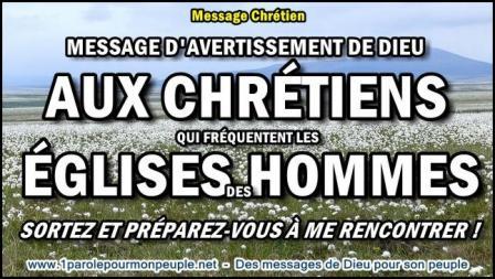Message de dieu aux chretiens qui frequentent les eglises des hommes miniature1