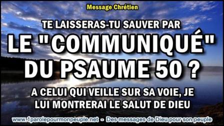 Te laisseras tu sauver par le communique du psaume 50 miniature1